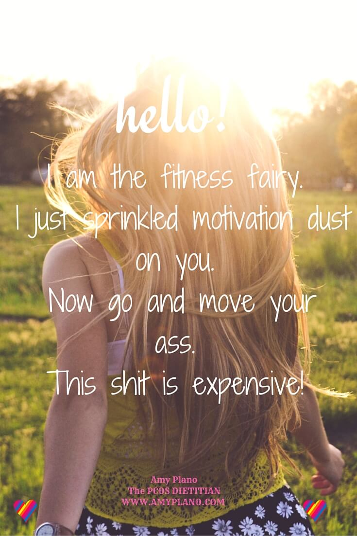 The Fitness Fairy is upon you Cyster!