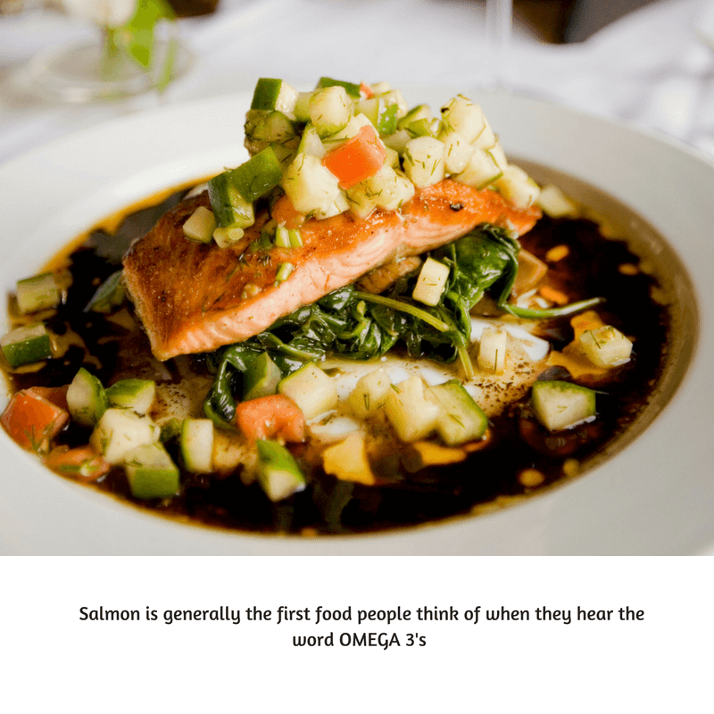Salmon contains lots of PCOS friendly fats